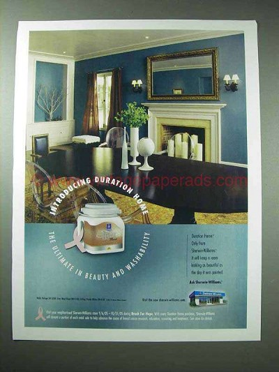 2005 sherwin williams duration home paint ad ultimate. Black Bedroom Furniture Sets. Home Design Ideas