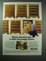 1989 Minwax Stain Ad - Make You a Snappy Dresser