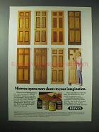 1989 Minwax Stain Ad - Opens More Doors to Imagination