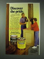 1988 Minwax Wood Finish, Polyurethane Ad - Pride