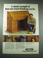 1986 Minwax Wood Finish, Polyurethane Ad - How Easy
