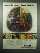 1984 Minwax Antique Refinisher, Tung Oil Finish Ad