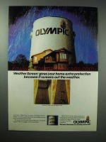 1984 Olympic Weather Screen Oil Stain Ad - Protection