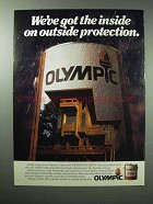 1983 Olympic Weather Screen Stain Ad - Protection
