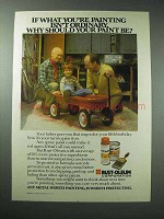 1982 Rust-Oleum Paint Ad - Isn't Ordinary
