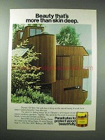 1980 Olympic Oil Stain Ad - More Than Skin Deep