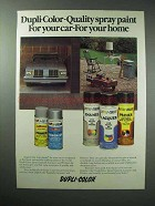1979 Dupli-Color Spray Paint Ad - For Car, For Home