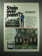 1979 Olympic Latex Stain Ad - Stain Over Paint?