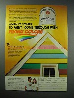1979 Pratt & Lambert Flying Colors Paint Ad