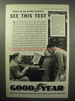 1933 Goodyear Truck Tire Ad - See This Test