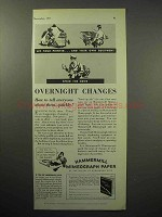 1933 Hammermill Bond Mimeograph Paper Ad - Changes