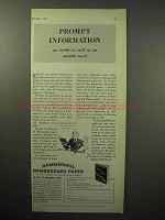 1933 Hammermill Bond Mimeograph Paper Ad - Prompt