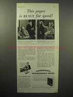 1933 Hammermill Bond Mimeograph Paper Ad - Speed