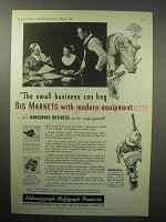 1933 Model 100 Multigraph, Model 700 Addressograph Ad - Bag Big Markets