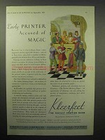 1933 Kimberly-Clark Kleerfeet Paper Ad - Magic