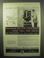 1933 IBM International Accounting Scale Ad - Modern