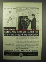 1933 IBM Automatic Payroll Machine Ad!