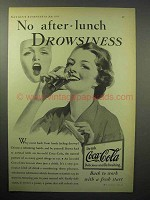 1933 Coca-Cola Soda Ad - No After-Lunch Drowsiness