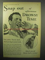 1933 Coca-Cola Soda Ad - Snap Out of Drowsy Time