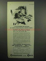 1933 Chesapeake and Ohio Railroad Ad - Business