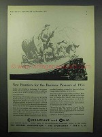 1933 Chesapeake and Ohio Railroad Ad - New Frontiers