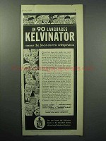 1933 Kelvinator Electric Refrigeration Ad, 90 Languages