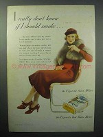 1933 Chesterfield Cigarettes Ad - I Really Don't Know