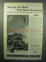 1933 International Harvester Truck Ad - Serving Wires
