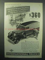 1933 International Harvester Half-Ton Truck Ad