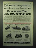 1933 International Harvester Truck, Tractors Ad