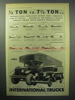 1933 International Harvester Truck Ad - D-1, A-1, A-5 +