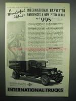 1933 International Harvester Model B-4 Truck Ad