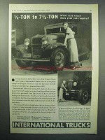 1933 International Harvester D-1, A-8 Truck Ad