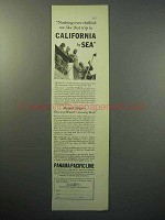 1933 Panama Pacific Line Cruise Ad - California by Sea