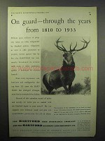1933 Hartford Insurance Ad - On Guard from 1810 to 1933