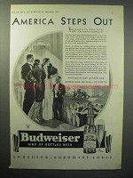 1933 Budweiser Beer Ad - America Steps Out