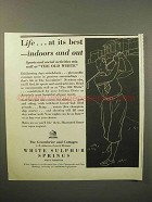 1933 Greenbrier Resort Ad - Life at Its Best