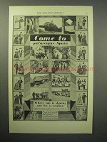 1932 Spain Tourism Ad - Come to Picturesque Spain