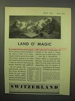 1932 Switzerland Tourism Ad - Land O' Magic
