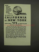 1932 Grace Line Cruise Ad - California or New York