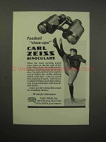 1932 Carl Zeiss Binocular Ad - Football Close-Up
