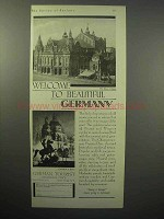 1930 Germany Tourism Ad, Opera Cologne Cathedral Berlin