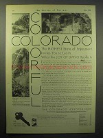 1930 Colorado Tourism Ad - Balcony House, Mesa Verde