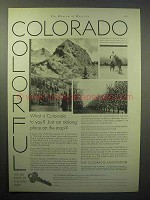1930 Colorado Tourism Ad - Colorful Colorado
