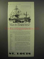 1930 St. Louis Industrial Bureau Ad - What is Barytes