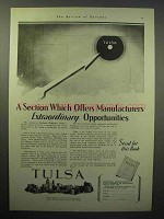 1930 Tulsa Oklahoma Chamber of Commerce Ad