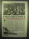 1930 Philadelphia Business Progress Association Ad