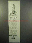 1930 Great Western and Southern Railways of England Ad - King Arthur