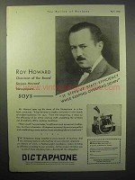 1930 Dictaphone Machine Ad - Roy Howard
