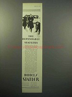 1930 Hotels Statler Ad - The Dependable Statlers